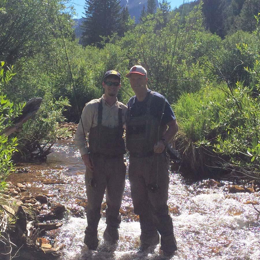Tim and Taylor fishing