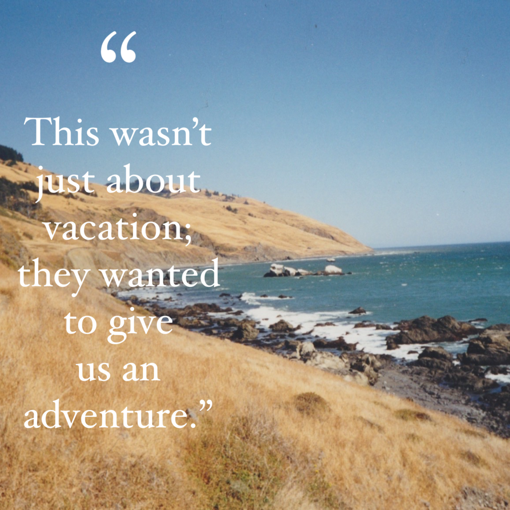 Picture of the Lost Coast with a quote from the article