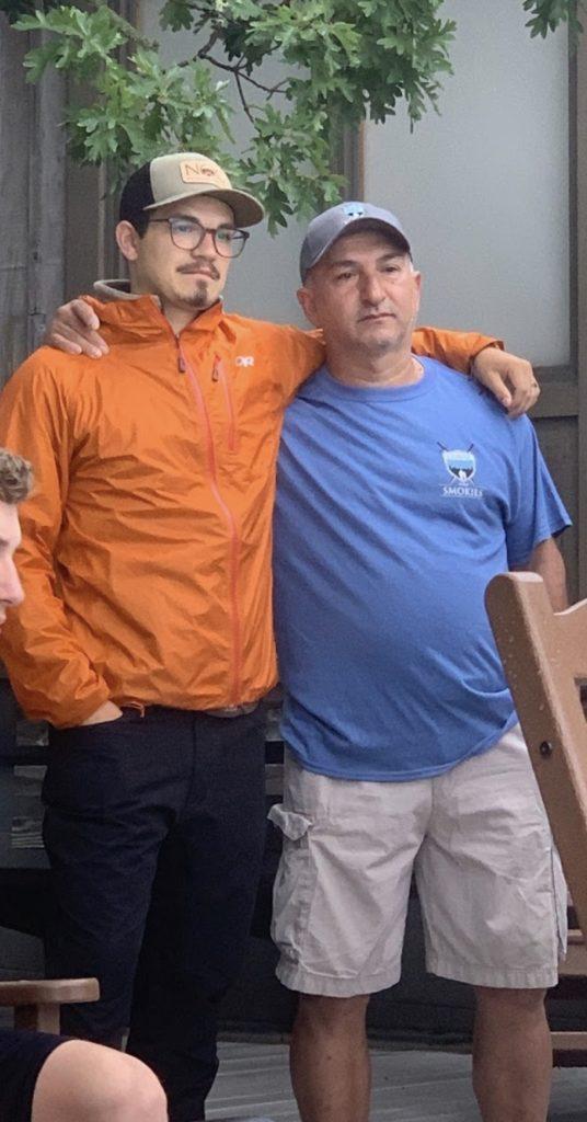 Sebastián and John Muñoz at camp