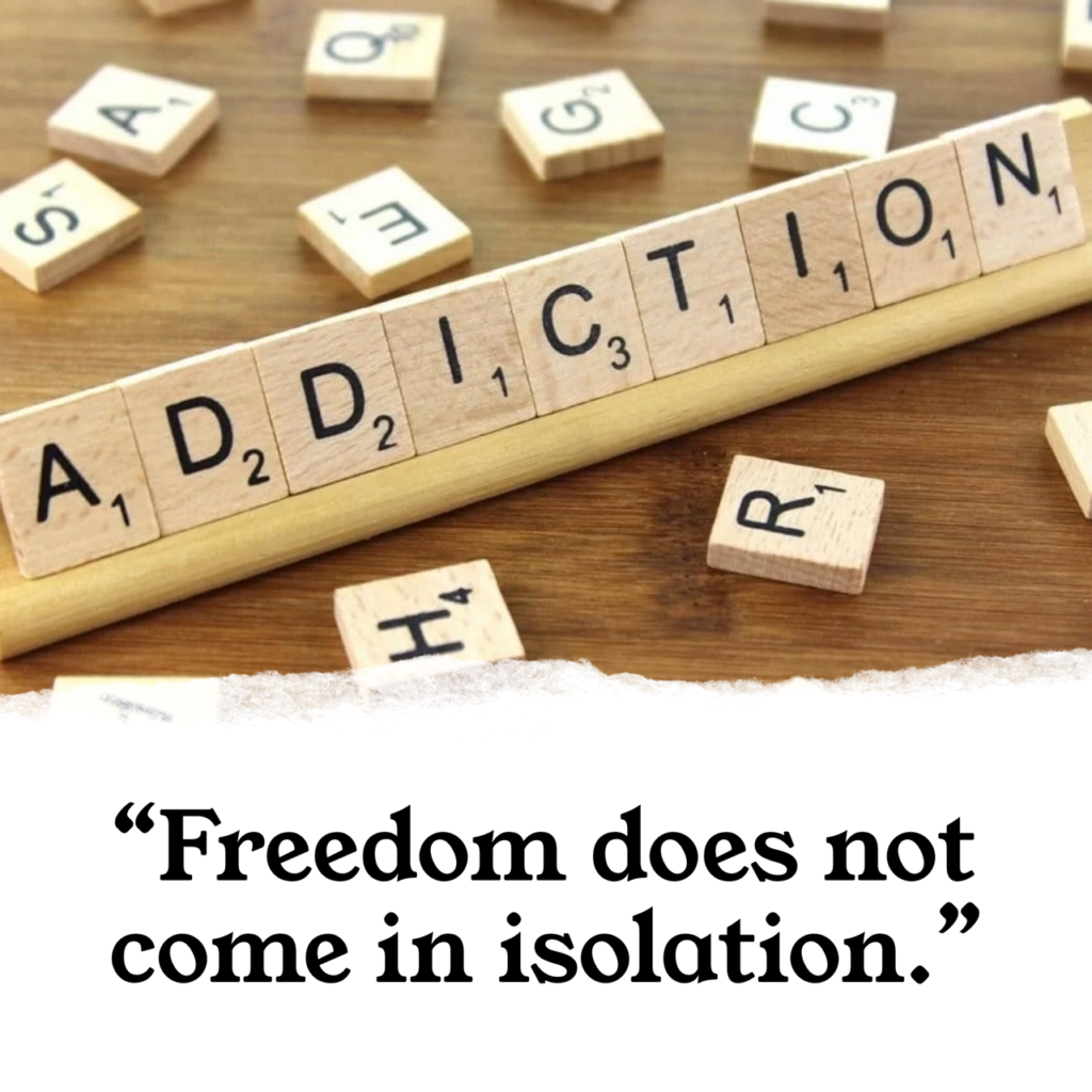 """""""Freedom does not come in isolation."""""""
